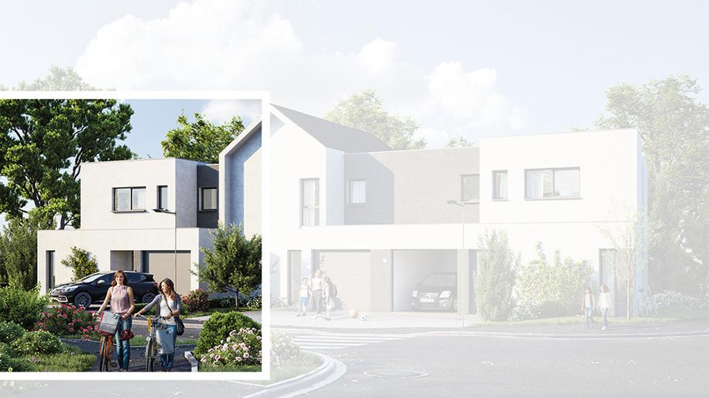Staff Aménagement et Promotion - Les Hameaux de la Roseraie - Maisons neuves à Marly - Modèle A1 Gauche