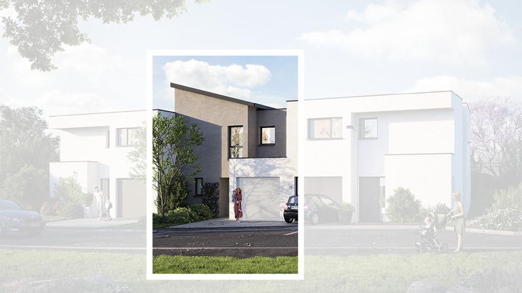 Staff Aménagement et Promotion - Les Hameaux de la Roseraie - Maisons neuves à Marly - Modèle A2 Centre