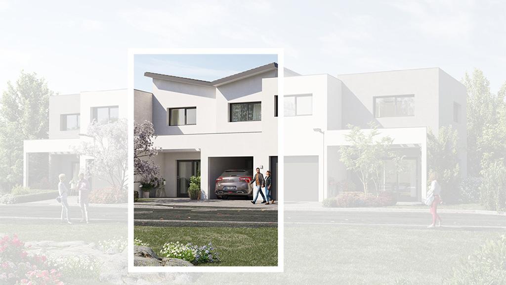Staff Aménagement et Promotion - Les Hameaux de la Roseraie - Maisons neuves à Marly - Modèle B1 Centre