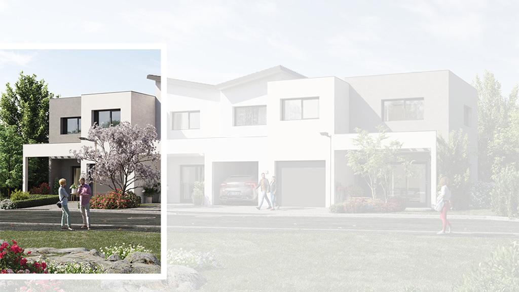 Staff Aménagement et Promotion - Les Hameaux de la Roseraie - Maisons neuves à Marly - Modèle B1 Gauche